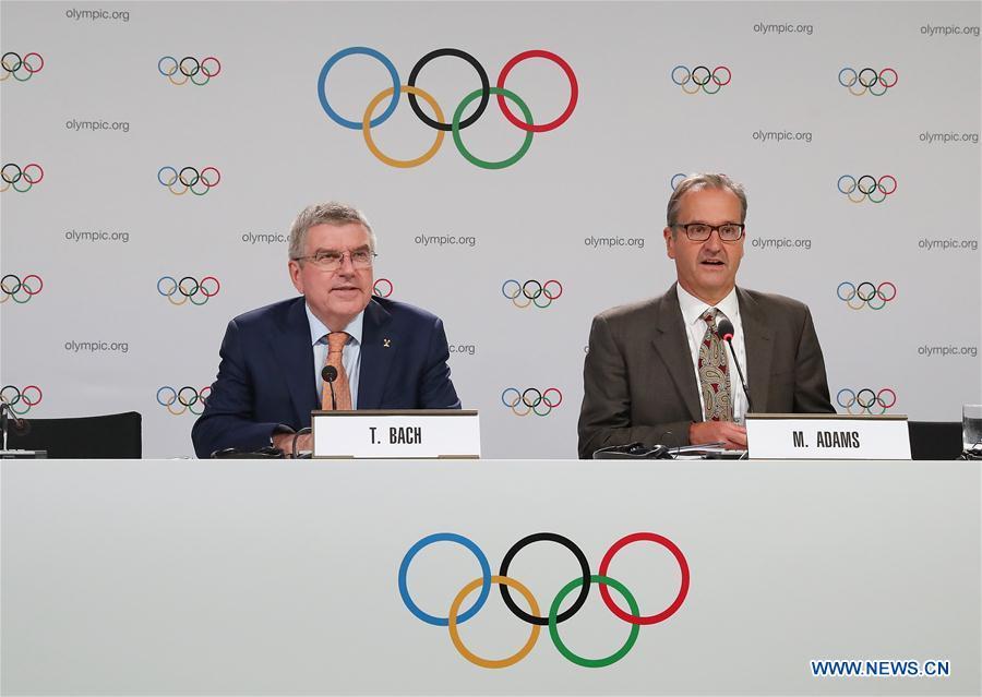 国际奥委会第134届会议后召开新闻发布会