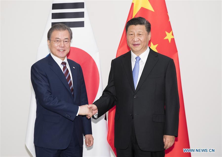 JAPAN-OSAKA-XI JINPING-MOON JAE-IN-MEETING
