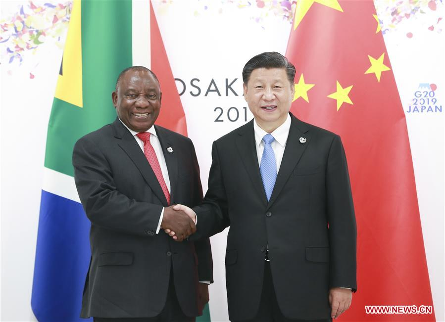 JAPAN-OSAKA-XI JINPING-CYRIL RAMAPHOSA-MEETING