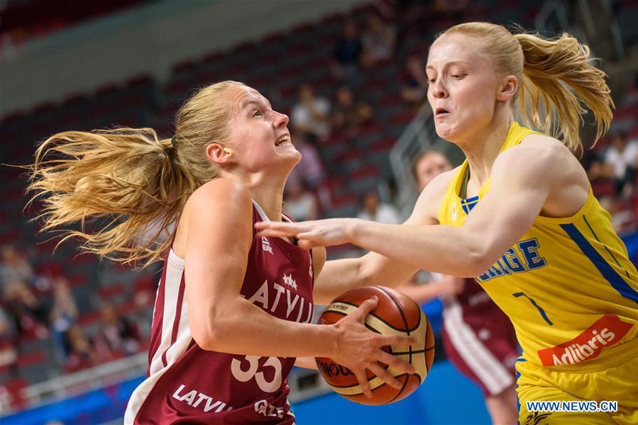 (SP)LATVIA-RIGA-EUROBASKET-SWEDEN VS拉脱维亚
