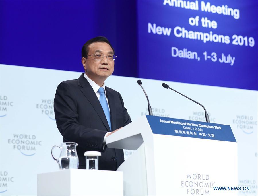 CHINA-DALIAN-LI KEQIANG-SUMMER DAVOS FORUM-OPENING (CN)