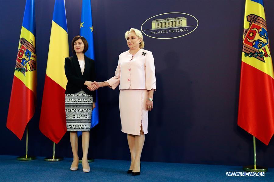 罗马尼亚总理会见摩尔多瓦在罗马尼亚布加勒斯特的同行