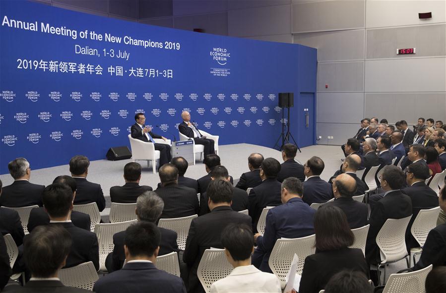 CHINA-DALIAN-LI KEQIANG-SUMMER DAVOS FORUM-DIALOGUE (CN)