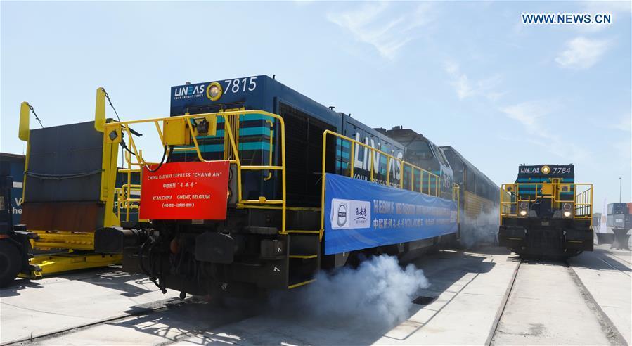 BELGIUM-GHENT-CHINA RAILWAY EXPRESS-ARRIVAL