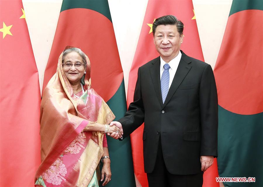 CHINA-BEIJING-XI JINPING-BANGLADESHI PM-MEETING (CN)