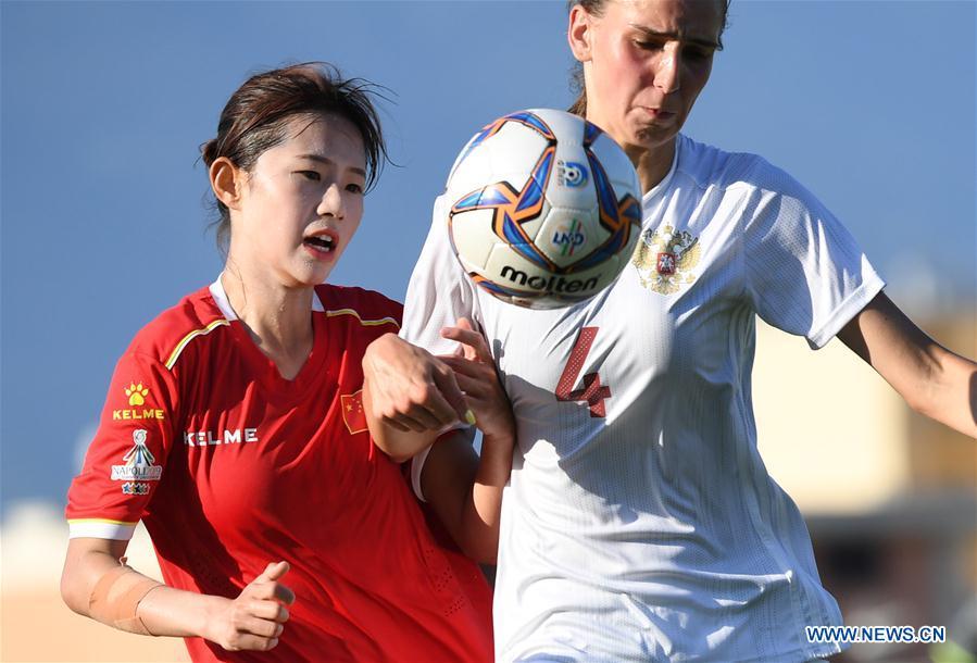 (SP)意大利 - 那不勒斯 - 夏季大学2019年 - 女足 - 中国与俄罗斯