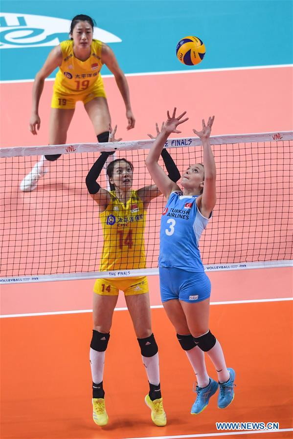 2019 FIVB Volleyball Nations League Finals Women: China vs  Turkey