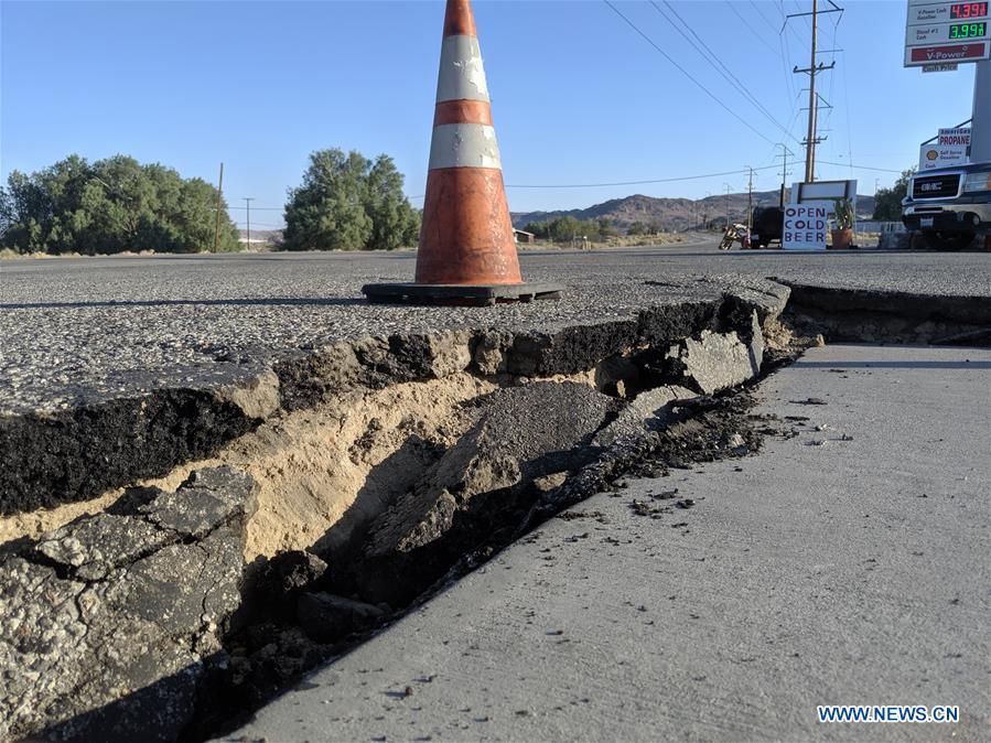 美国加州地震余波