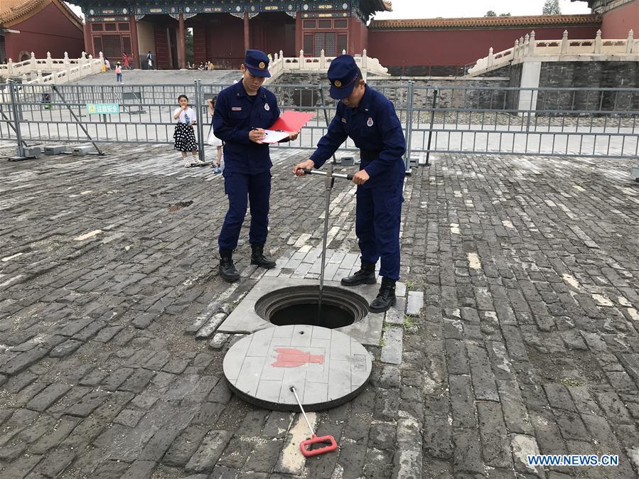 (BeijingCandid)CHINA-BEIJING-PALACE MUSEUM-FIRE FIGHTING-PATROL(CN)