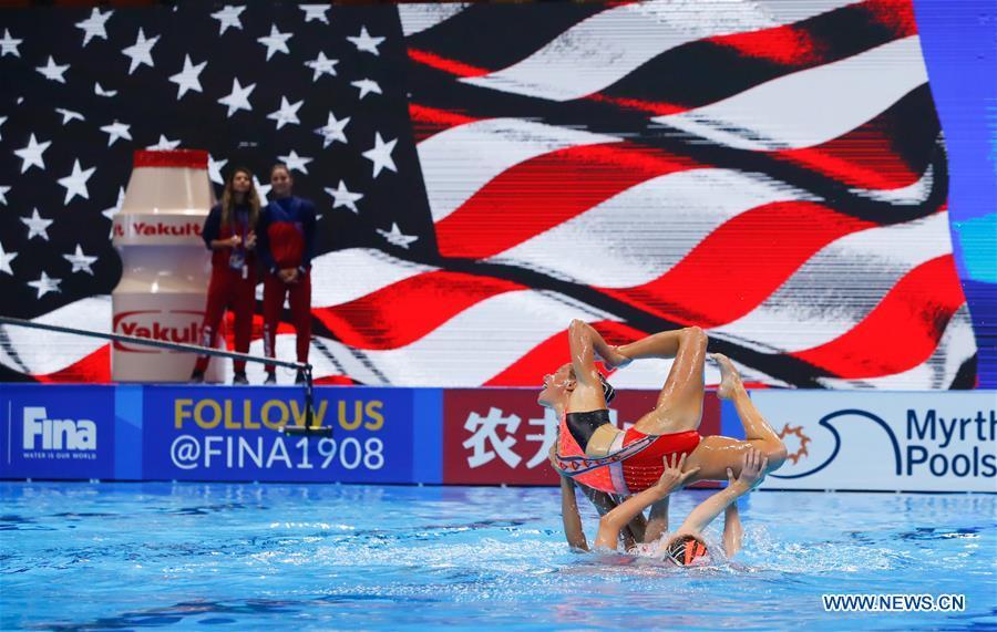 (SP)韩国 -  GWANGJU-FINA世界锦标赛 - 艺术游泳团队技术初步
