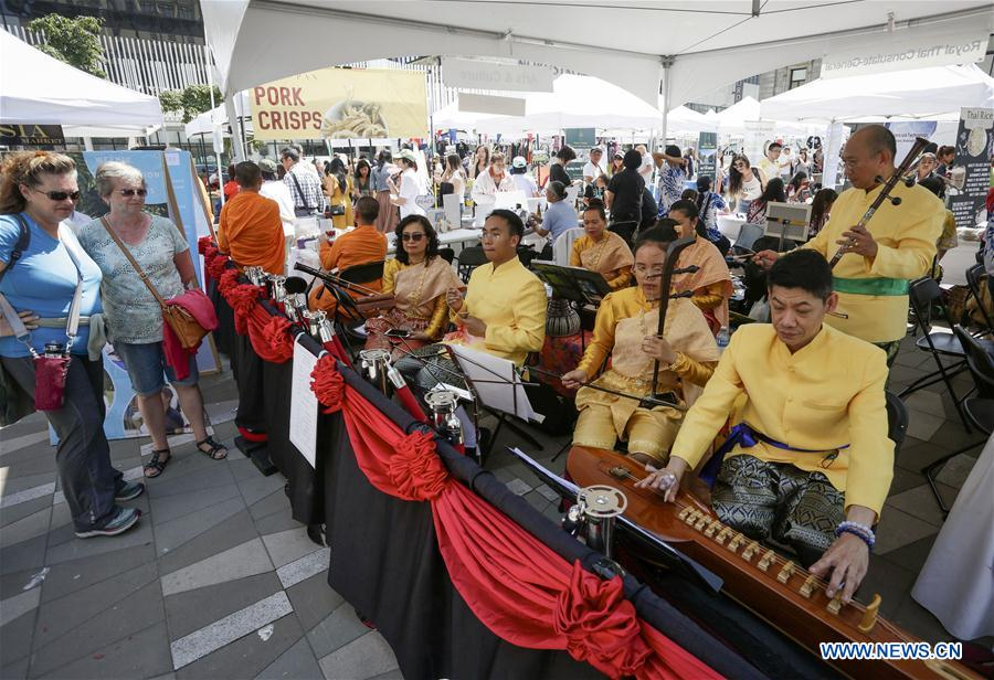 6th annual Thai cultural Festival held in Vancouver, Canada - Xinhua