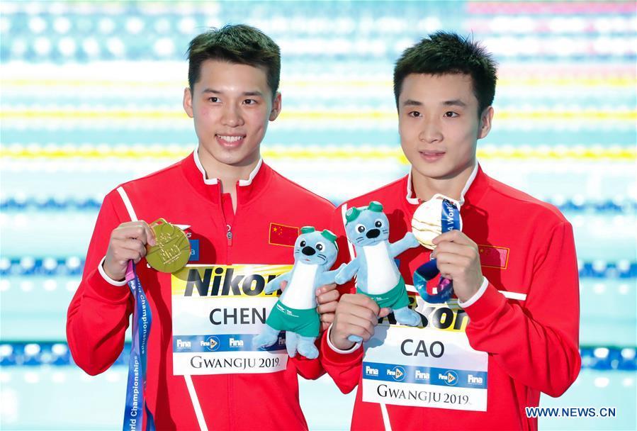 (SP)SOUTH KOREA-GWANGJU-FINA WORLD CHAMPIONSHIPS-MEN'S 10M SYNCHRO PLATFORM FINAL