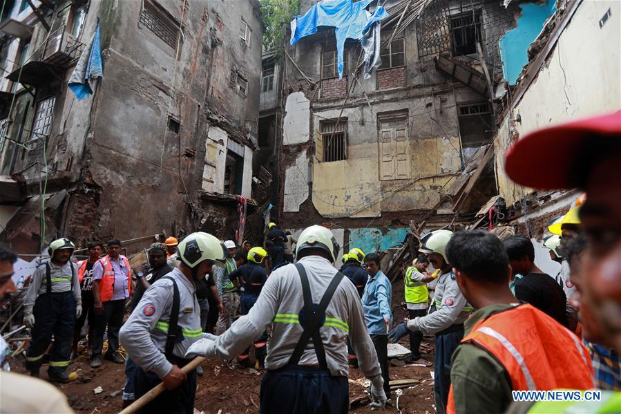 Death toll in Mumbai building collapse rises to 14 - Xinhua | English.news.cn