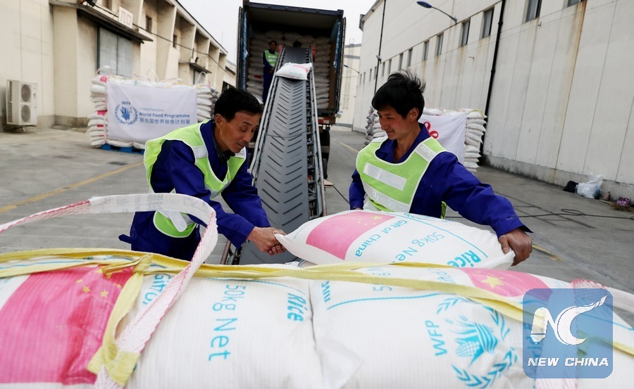 China donates over 2,000 metric tons of rice to WFP for