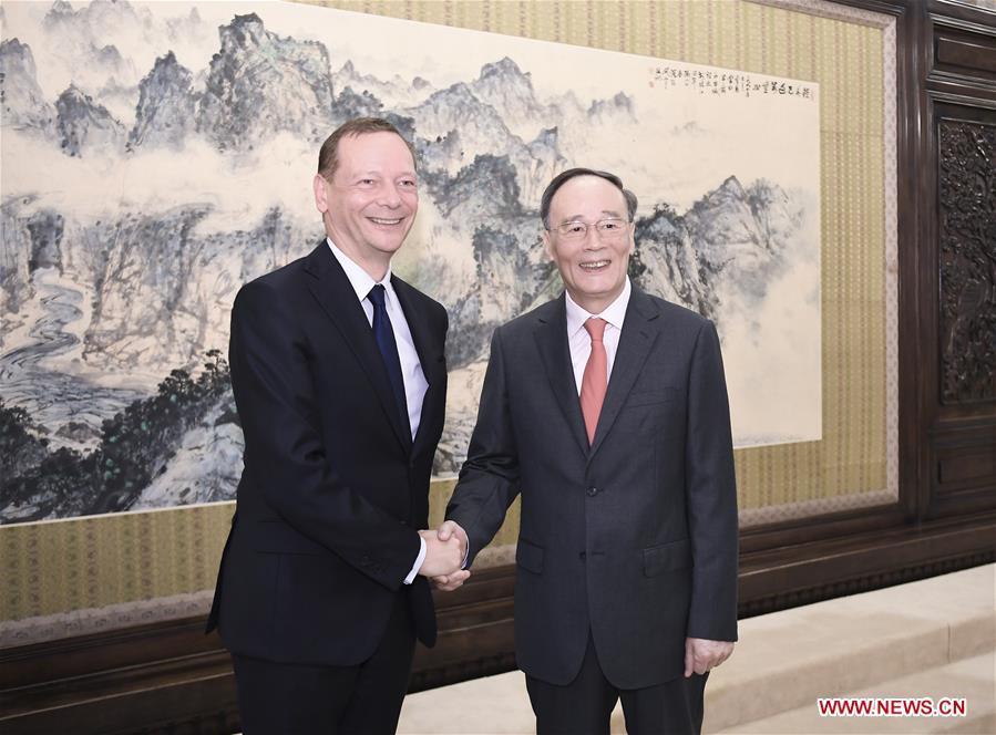 CHINA-BEIJING-WANG QISHAN-FRANCE-DIPLOMATIC COUNSELOR-MEETING(CN)