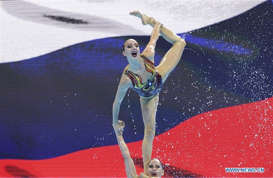 Russia takes gold in women's team free artistic swimming at Gwangju