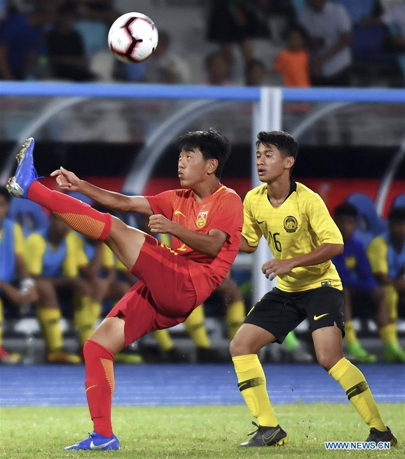 (SP)CHINA-HAIKOU-SOCCER-INTERNATIONAL YOUTH FOOTBALL TOURNAMENT-MALAYSIA VS CHINA (CN)