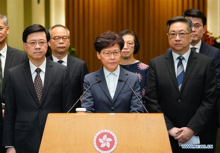 CHINA-HONG KONG-CARRIE LAM-CONDEMNATION (CN)