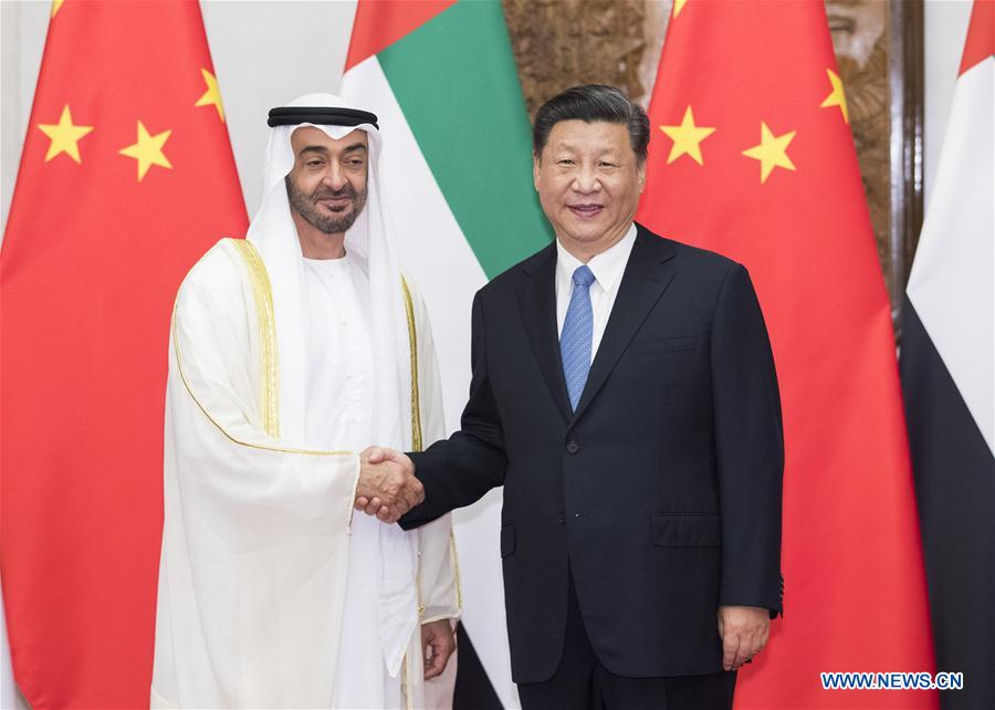 CHINA-BEIJING-XI JINPING-CROWN PRINCE OF ABU DHABI-MEETING (CN)