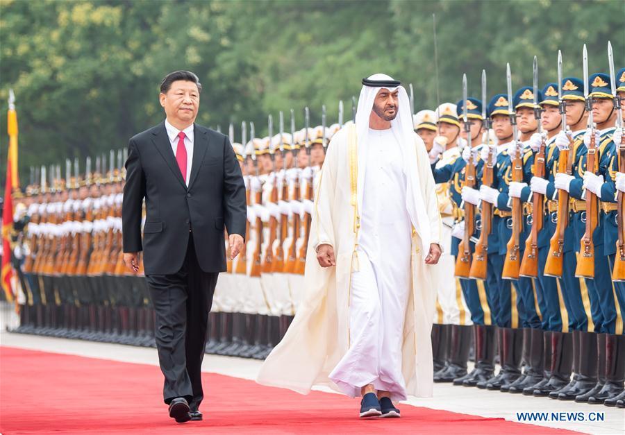 CHINA-BEIJING-XI JINPING-CROWN PRINCE OF ABU DHABI-TALKS (CN)