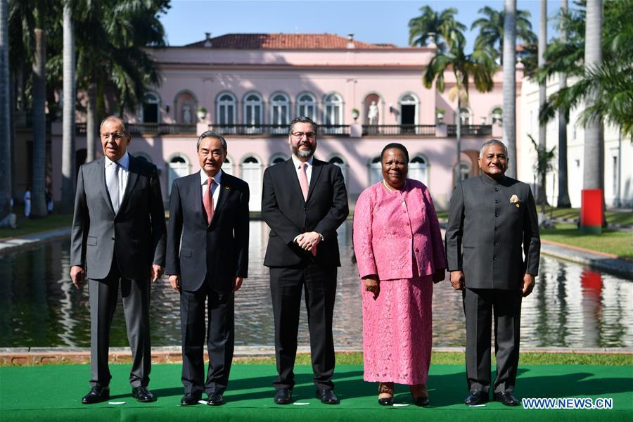 BRAZIL-RIO DE JANEIRO-CHINA-WANG YI-BRICS-MEETING