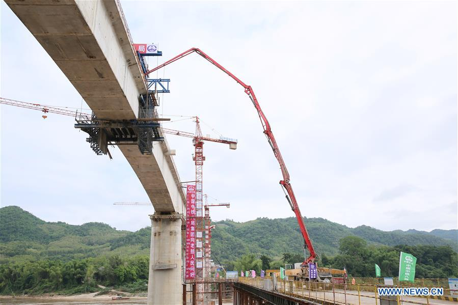 LAOS-LUANG PRABANG-MEKONG RIVER SUPER MAJOR BRIDGE-CLOSURE