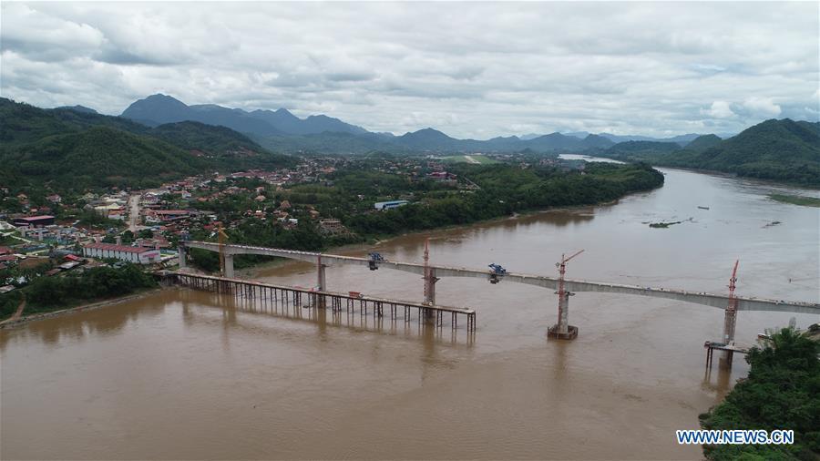 LAOS-LUANG PRABANG-MEKONG RIVER SUPER MAJOR BRIDGE-CLOSURE