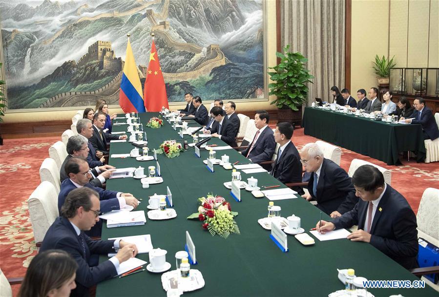 中国 - 北京 - 李占枢 - 哥伦比亚总统会议(CN)