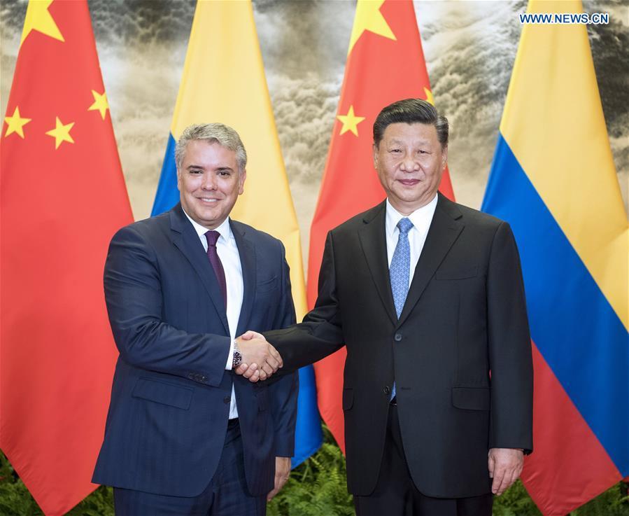 CHINA-BEIJING-XI JINPING-COLOMBIAN PRESIDENT-TALKS (CN)