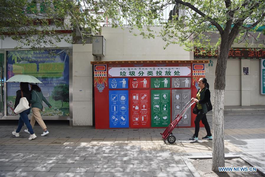 CHINA-TIBET-LHASA-GARBAGE SORTING (CN)