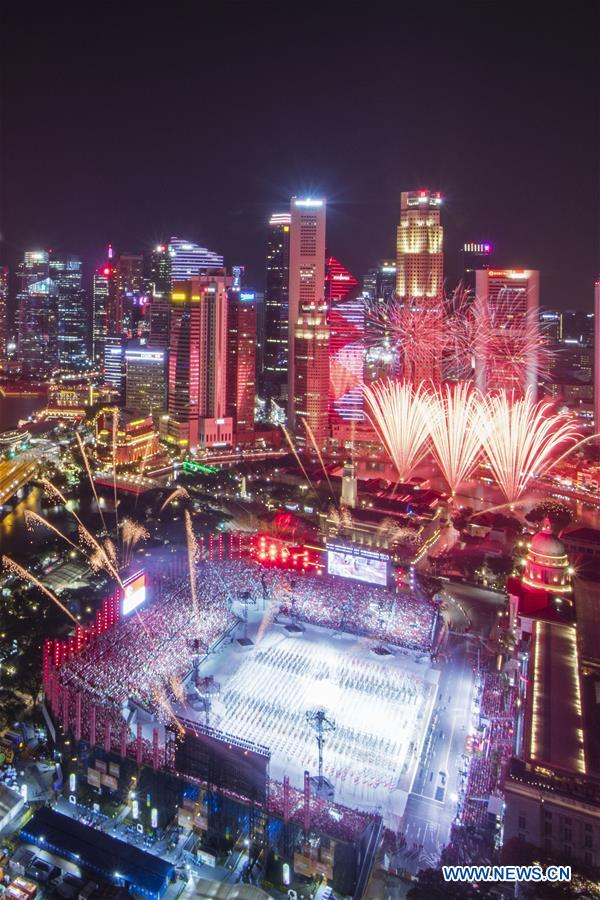 National Day Parade rehearsal held in Singapore - Xinhua