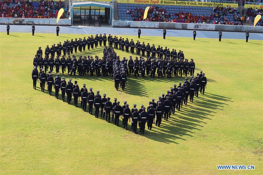 博茨瓦纳 -  GABORONE警察周年,庆祝