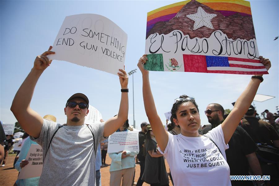 US-EL PASO-RALLY-GUN CONTROL-ANTI-RACISM