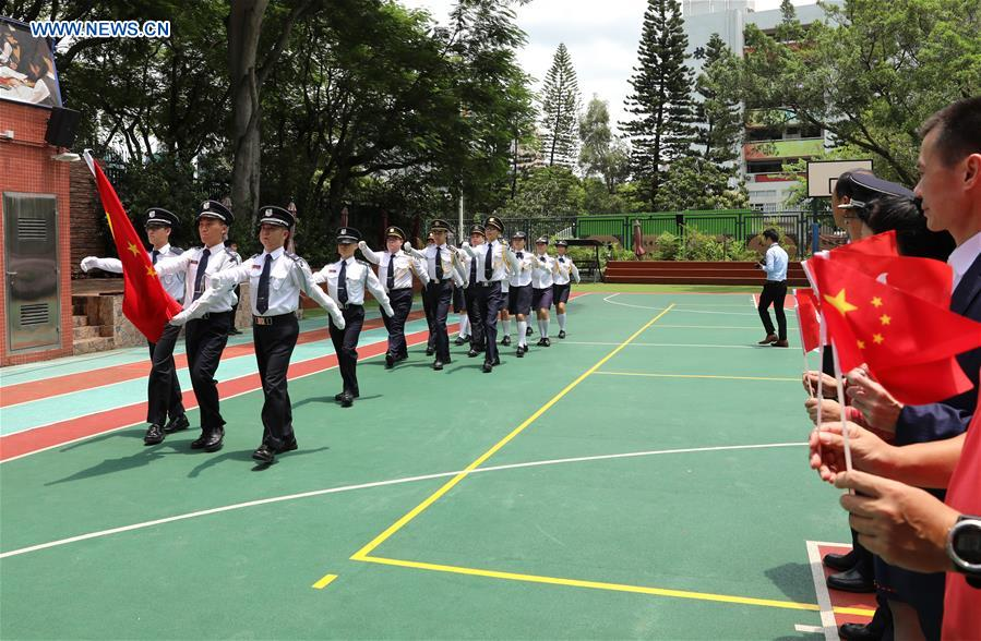 CHINA-HONG KONG-FLAG RAISING CEREMONY (CN)