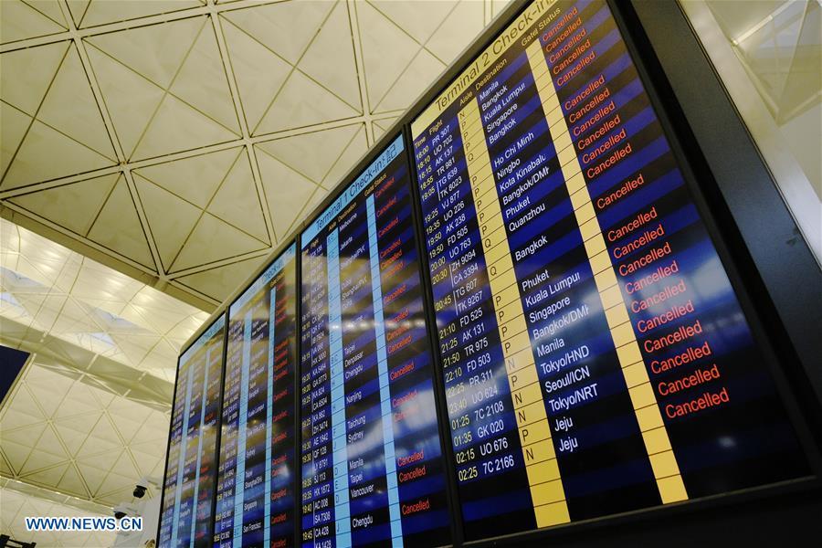 CHINA-HONG KONG-AIRPORT-FLIGHTS-CANCELLATION (CN)