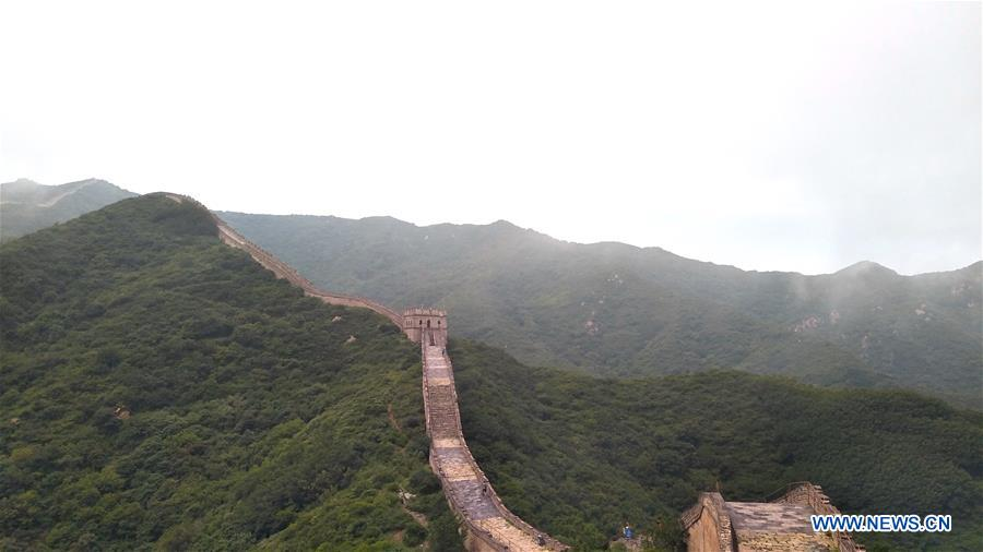 Scenery at less renovated Badaling Old Great Wall in Beijing
