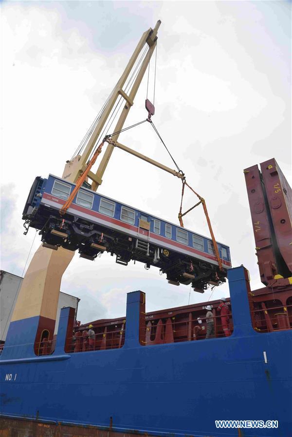 SRI LANKA-COLOMBO-RAILWAY-CHINESE TRAIN-IMPORT