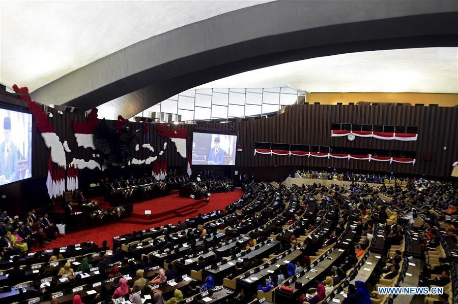 印度尼西亚 - 雅加达 - 总统 - 年度演讲