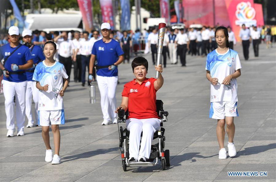 (SP)CHINA-TIANJIN-NATIONAL GAMES FOR PERSONS WITH DISABILITIES-TORCH RELAY (CN)