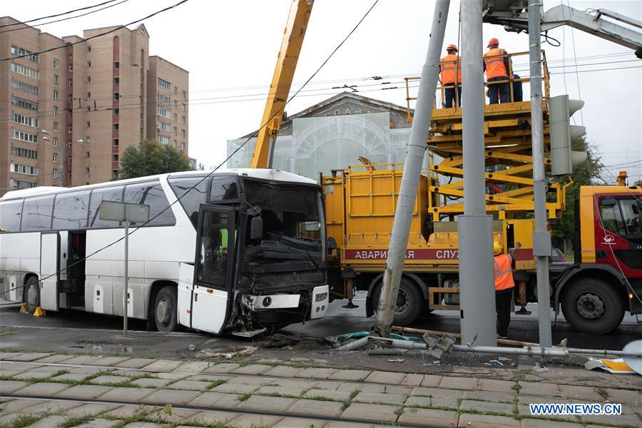 RUSSIA-MOSCOW-BUS ACCIDENT