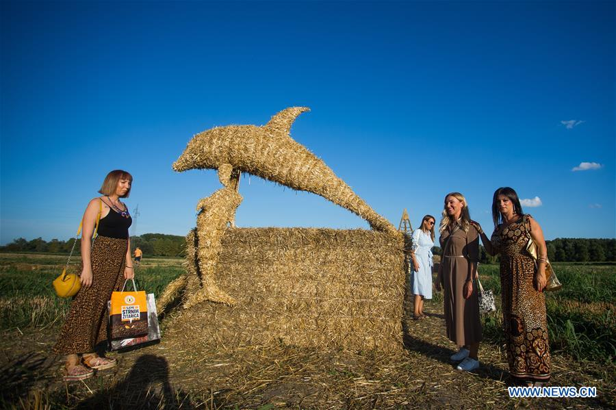CROATIA-BILJE-STRAW SCULPTURES