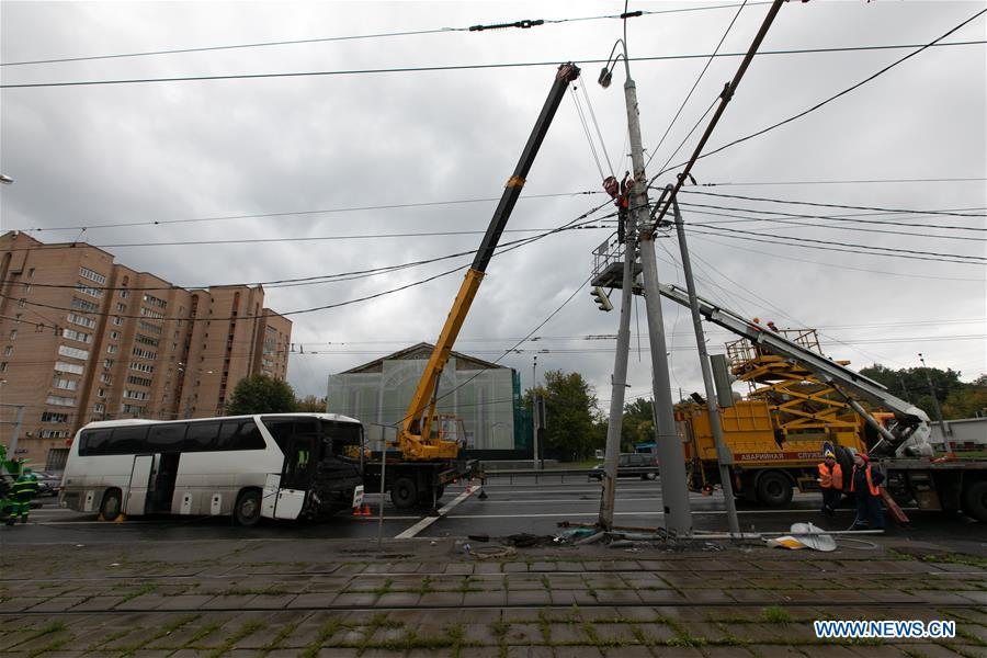 Chinese tourists injured in bus accident in Moscow - Xinhua   English.news.cn