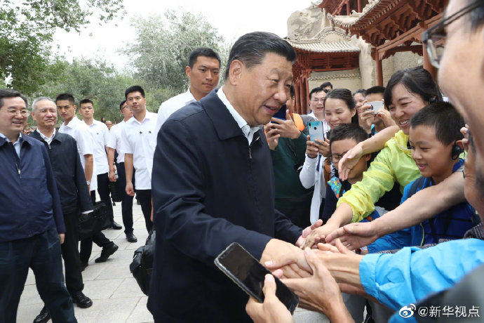 Xi visits cultural heritage site in Gansu - Xinhua | English.news.cn