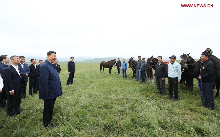 CHINA-GANSU-SHANDAN COUNTY-XI JINPING-INSPECTION (CN)