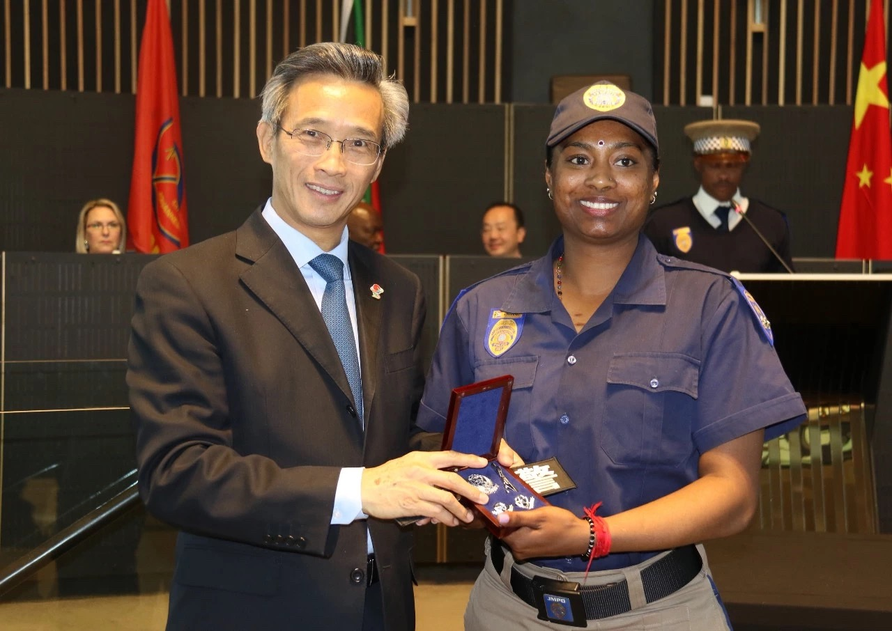 S. Africa lauds training offered by Chinese police - Xinhua | English.news.cn