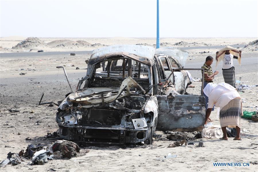 也门,亚丁 - 市郊 - 空袭