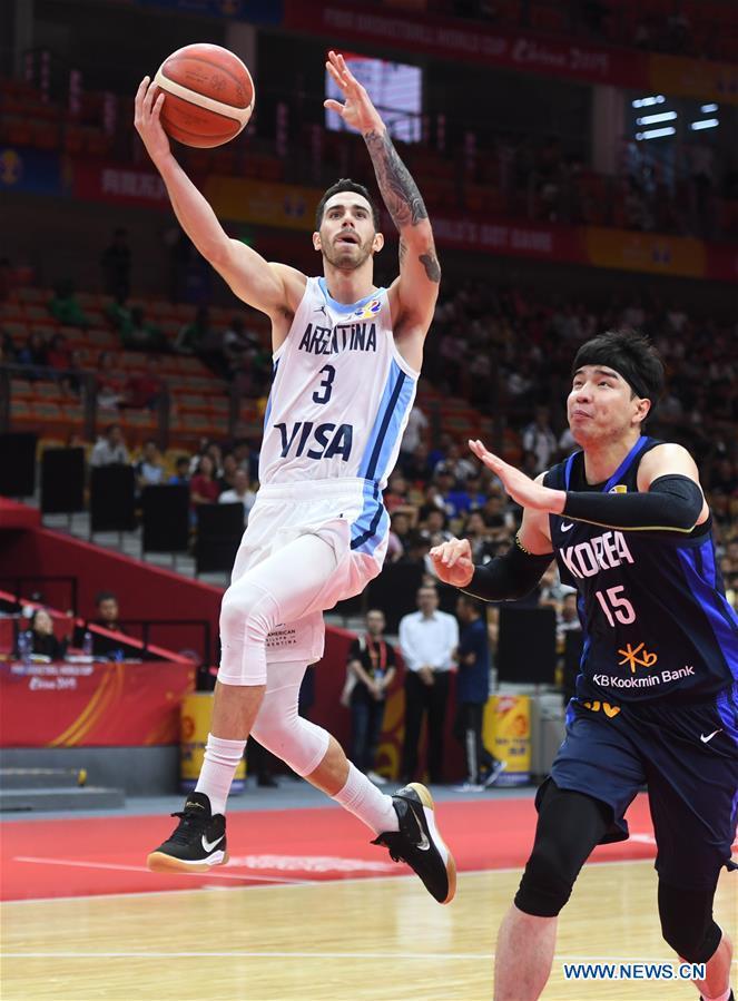 (SP)CHINA-WUHAN-BASKETBALL-FIBA WORLD CUP-GROUP B-SOUTH KOREA VS阿根廷(CN)