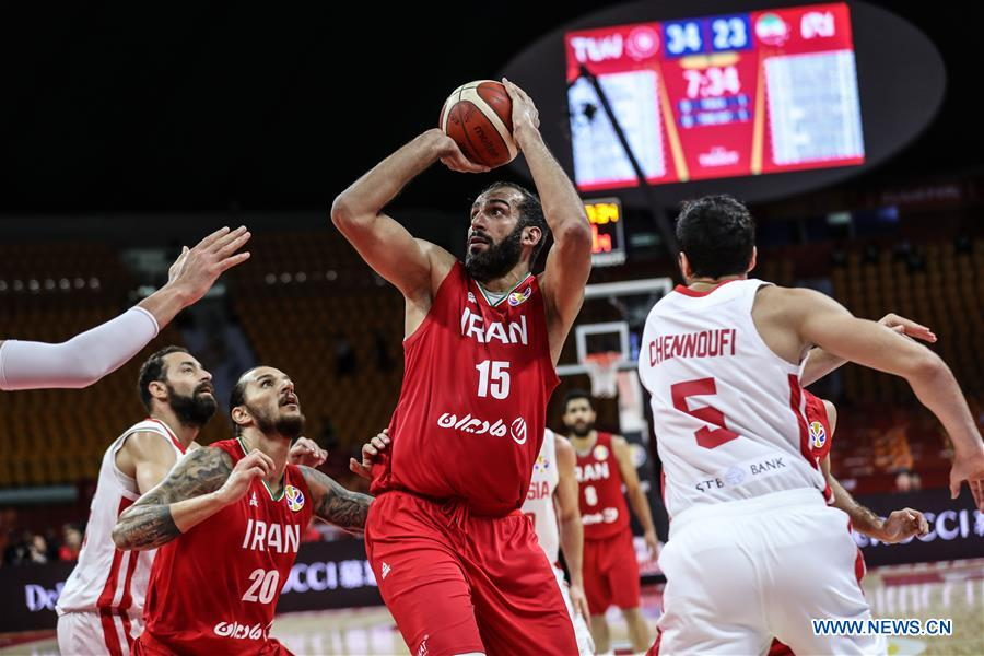 (SP)CHINA-GUANGZHOU-BASKETBALL-FIBA WORLD CUP-GROUP C-IRAN VS TUNISIA(CN)