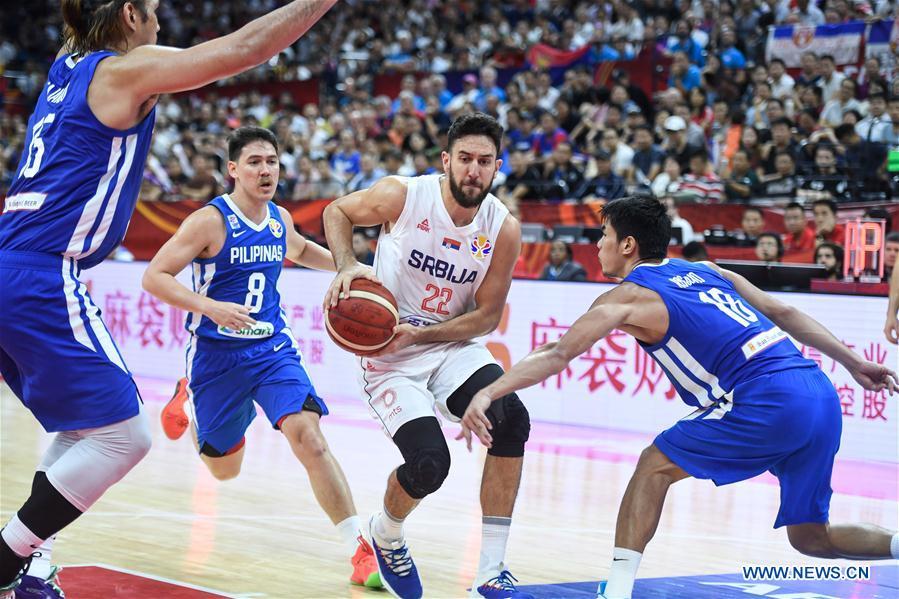 (SP)中国-FOSHAN-BASKETBALL-FIBA世界杯组D-SERBIA VS菲律宾(CN)