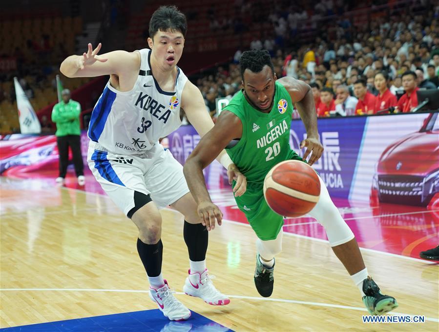 (SP)CHINA-WUHAN-BASKETBALL-FIBA WORLD CUP-GROUP B-韓國VS尼日利亞(CN)